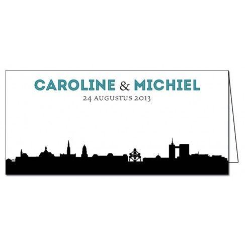 Trouwkaart: Bruxelles / Brussel - België (Dubbel)
