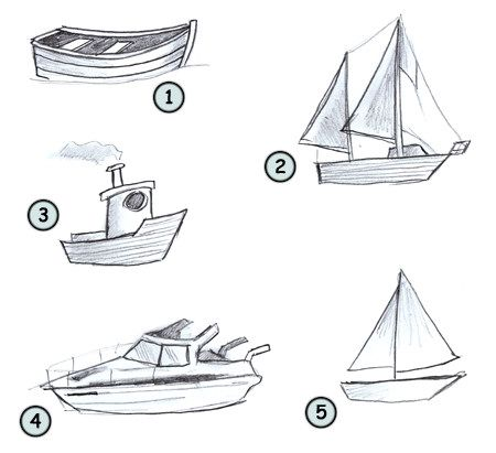 Learn how to draw a simple cartoon boat. This lesson is very easy and everyone can try it!
