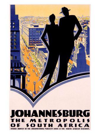 Johannesburg, South Africa (Johannesburg Publicity Assoc. & South African Railways)