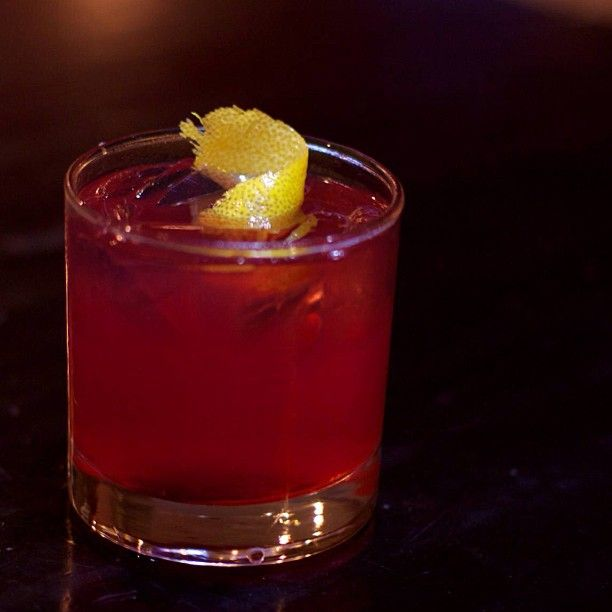 ... lime juice, ginger simple syrup and fresh brew hibiscus tea served