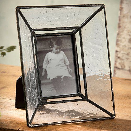 j devlin clear seedy glass photo frame with slant sides 2x3 j devlin art glass