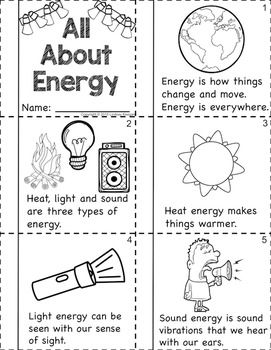 Forms of Energy ~ Light, Sound and Heat for Primary