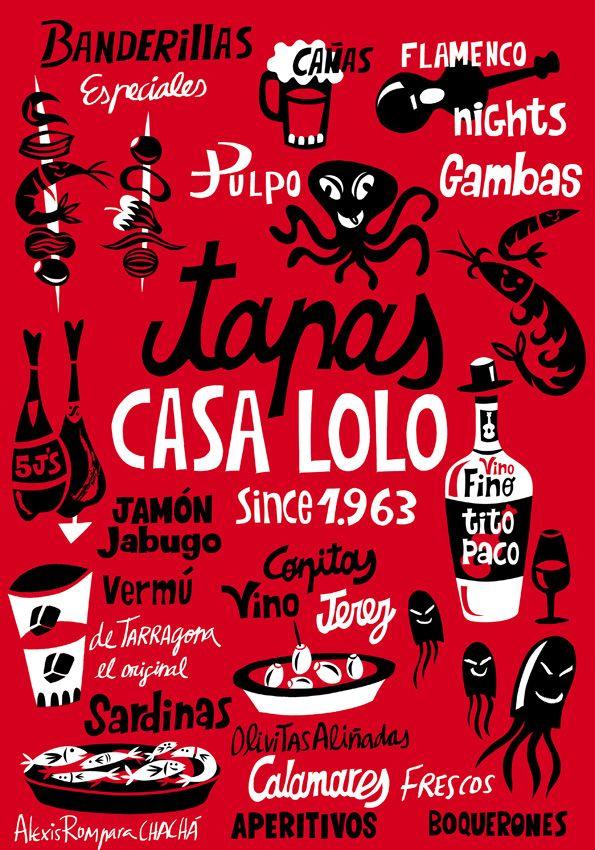Casa Lolo  Barcelona 2002-2010  client: The Original Cha-Chá    Desde cuando en 2002 se creó para The Original Cha-Chá, Casa Lolo no ha parado de crecer. Esta colección de hogar de gran éxito juega con el imaginario colectivo de los bares de tapas de toda la vida.