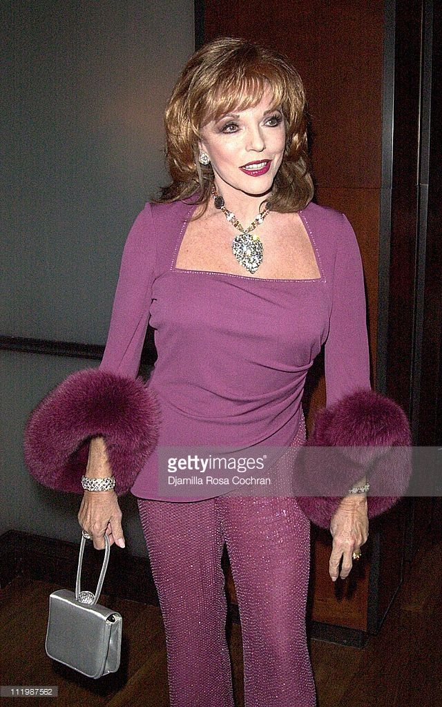 Joan Collins during Joan Collins Launches Her New Book 'Star Quality' at the Chambers Hotel at Chambers Hotel in New York City, New York, United States.