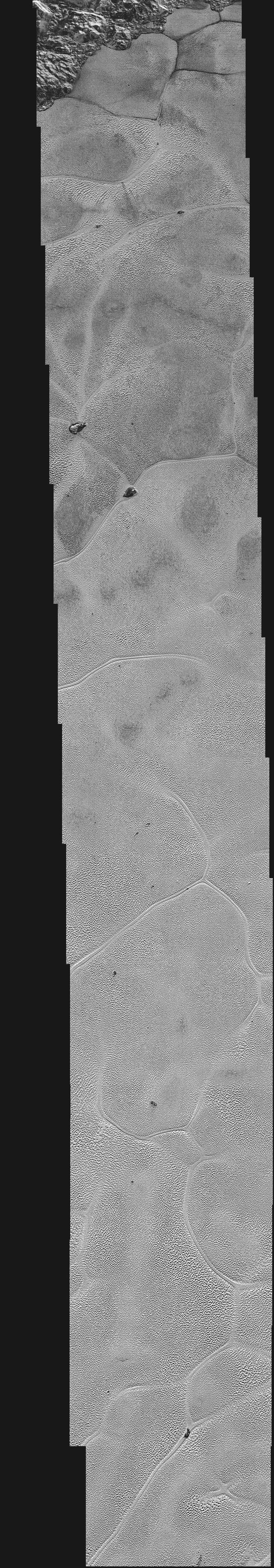 "Pluto's Icy Plains in Highest-Resolution Views from New Horizons | Nasa.gov | ""NASA's New Horizons spacecraft continues to transmit the sharpest views of Pluto that it obtained (& recorded) during its Jul 14, 2015 flyby. The newest image, returned on Dec 24, extends New Horizons' highest-resolution swath of Pluto to the center of the informally named Sputnik Planum & nearly completes the set of highest-resolution images taken by New Horizons."" Click to read & share the full article."