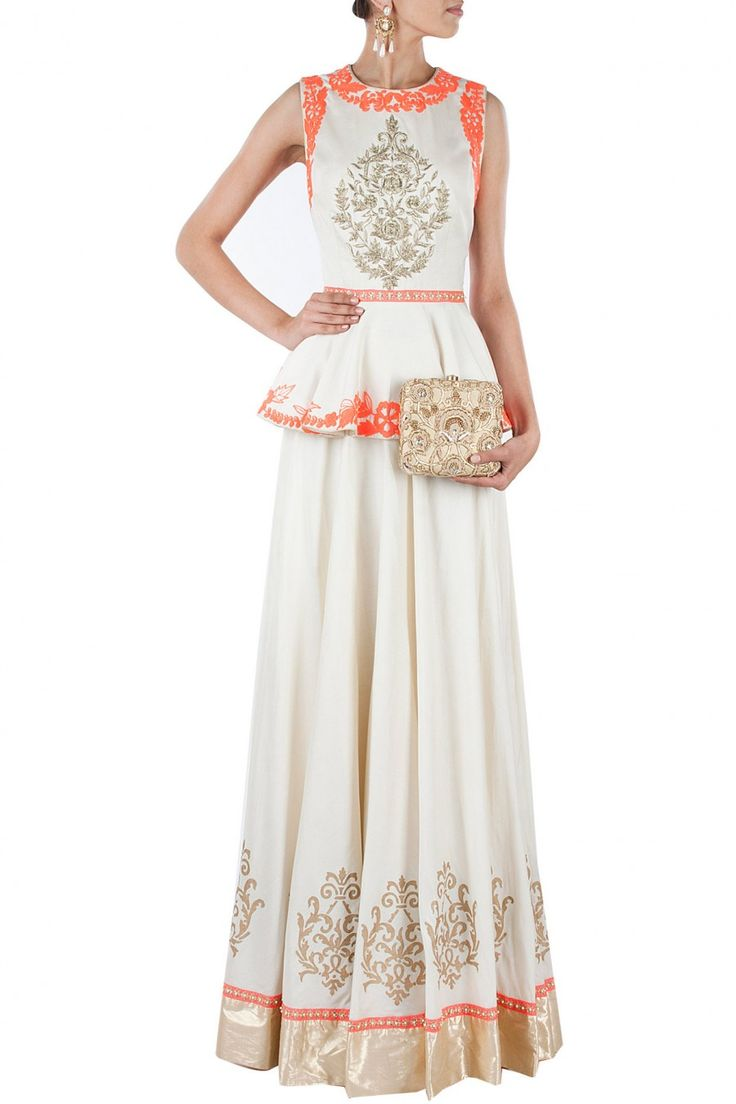 Peplum Indian outfit for a wedding