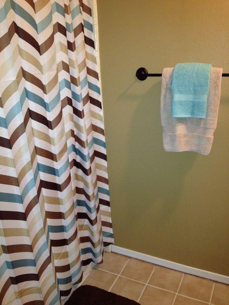 Chevron Shower Curtaingreat For Boys Bathroom