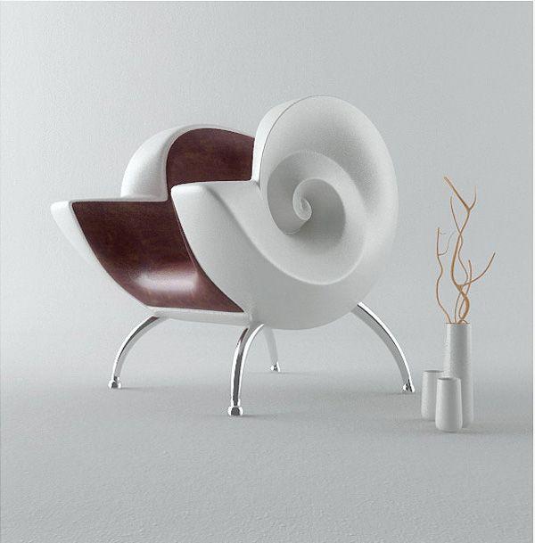 sea themed furniture. Seashell Armchair By Yury Dovgnyuk Sea Themed Furniture I