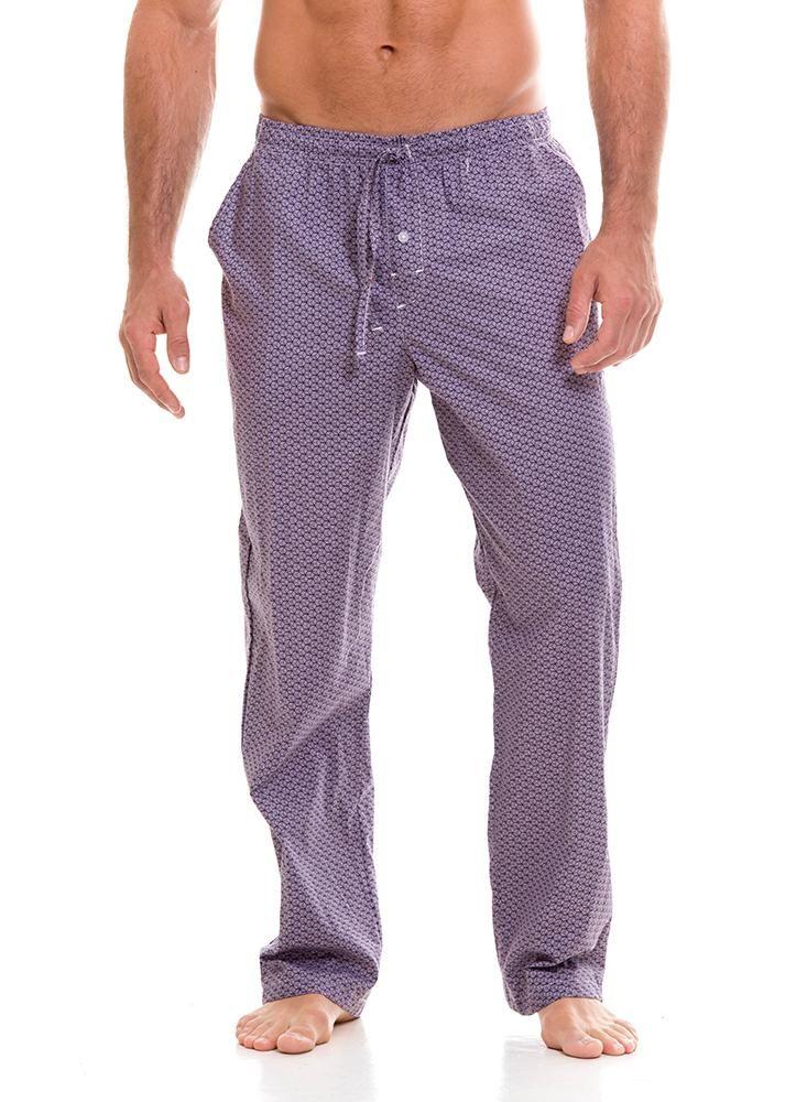 Pantalon Pijama Largo Estampado Morado Pantalones De Pijama Ropa Pijama De Hombre