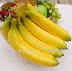 8pcs/set hoge kunstmatige banaan supermarkt winkel kast ambachten decoratie nep fruit foto mallen