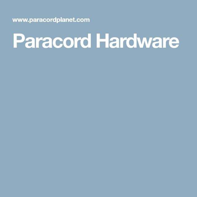 Paracord Hardware