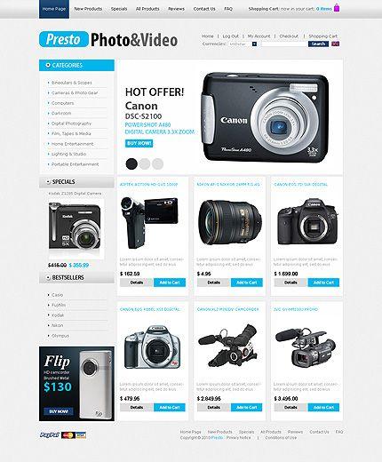 Presto Photo ZenCart Templates by Sawyer