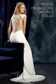 Sapphire by Alfred Angelo: The ultimate in sophistication. Browse more wedding dress styles at www.alfredangelo.com.