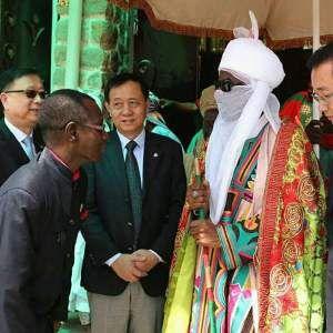 Football International Kanu Nwankwo And El-hadji Diouf Visit Kano Emir Sanusi (Pics)