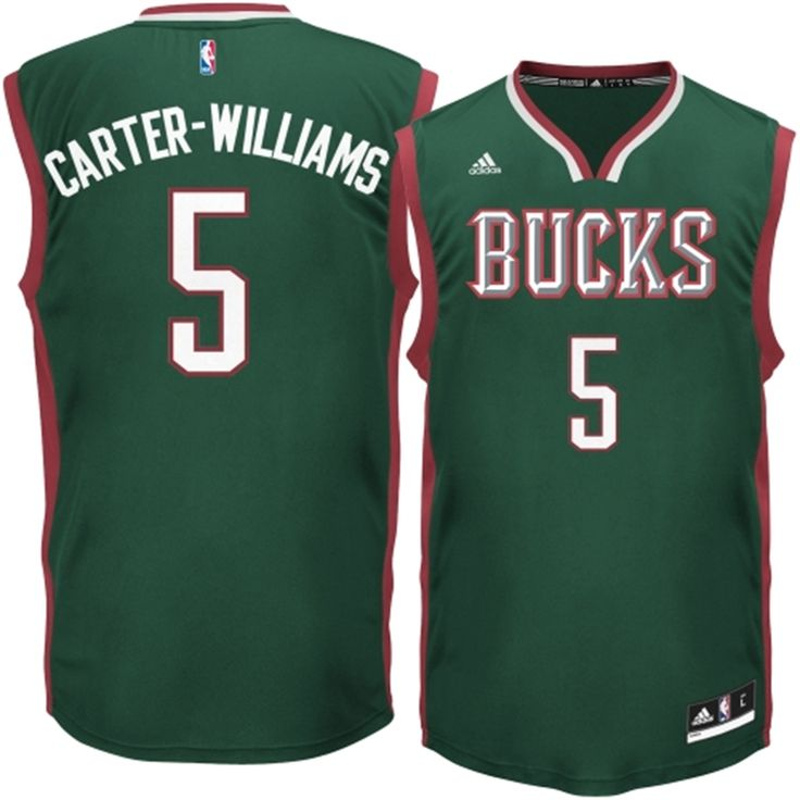 f8f6001a041 The name Mens Milwaukee Bucks adidas Michael Carter-Williams Green Road  Replica Jersey ...