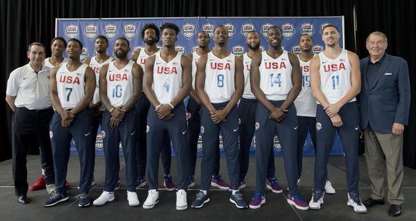Баскетбольная команда США мужская сегодня суд в Рио. (Мэри Altaffer / Ассошиэйтед Пресс)
