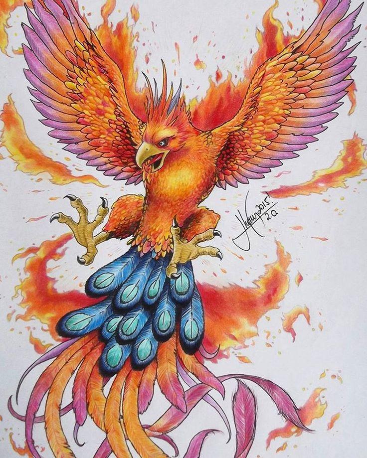 Fênix 2.0! Finalizada! Fiz alguns testes de cores antes de chegar no resultado final. Essa aí tá pegando fogo🔥 - Parabéns orelhudo, agora melhorou 😈! - 😒 ✏✒( ͡° ͜ʖ ͡° ) #fenix #avefenix #criatividade #ilustracao #lapisdecor #desenho #jhonnyjvb 📲 facebook.com/jhonny.basto.3 📲 jhonnyjvb.blogspot.com 📲 plus.google.com/+JhonnyBasto