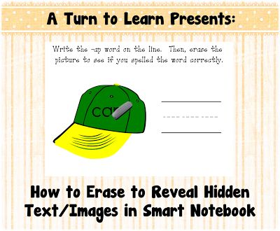 A Turn to Learn: How to Erase to Reveal Hidden Text/Images in Smart Notebook