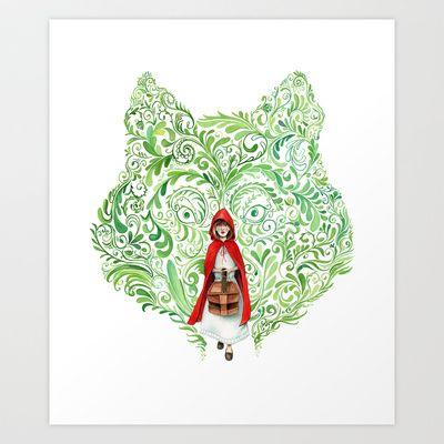 Red Riding Hood Art Print by Stephane Lauzon - $15.00