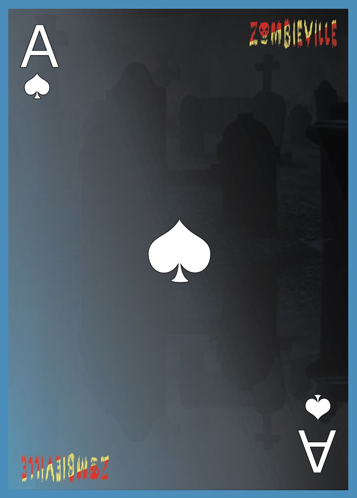Customized Playing card design: Ace of spades