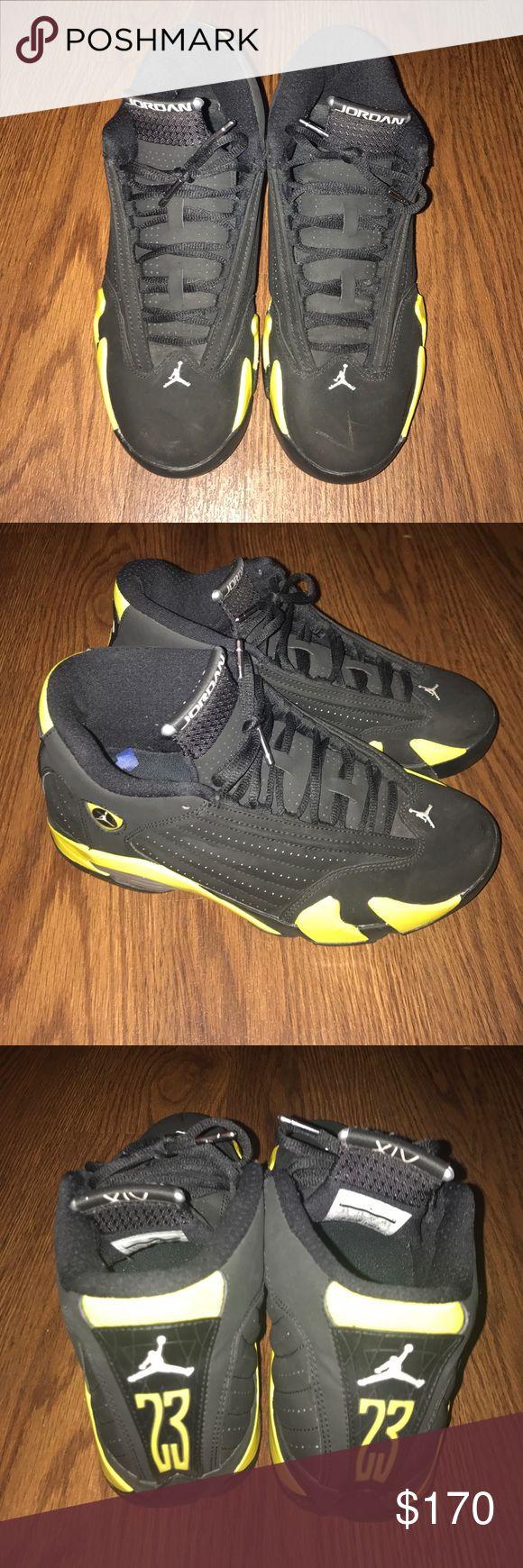"""Air Jordan retro 14 """"Thunder"""" HEAT HEAT 🔥🔥NOBOX Thunder 14's Jordan Shoes Sneakers"""
