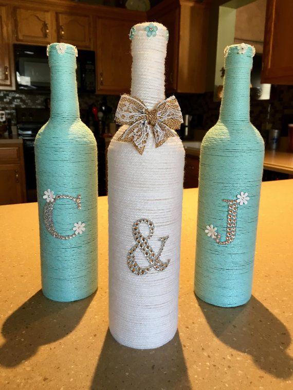 922 best garrafas e vidros decorados images on pinterest a stand initial yarn wrapped wine bottles by creationsbyjackiej on etsy diy bottlewine bottle corkswine bottle craftsbeer bottlesglass solutioingenieria Image collections