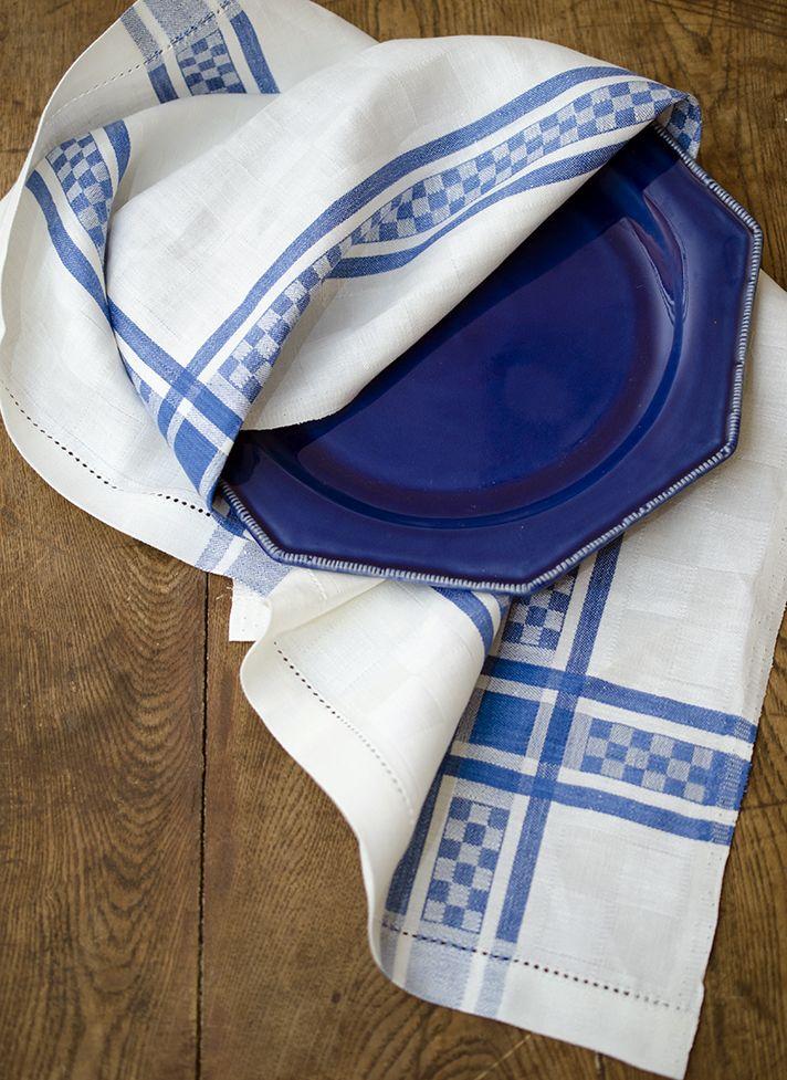 #LinenWay #Linen #Kitchen towel #Tea Towels #Blue & White Towel #Graphic towel #Checkerboard