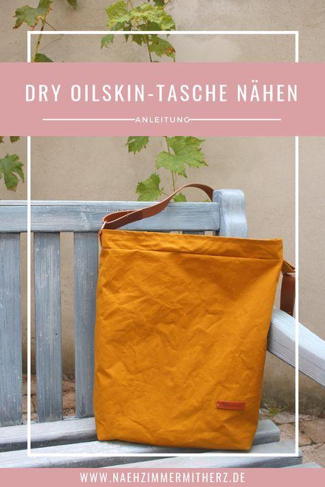 Dry Oilskin… meine neue, allerliebste Tasche… mit Tutorial…los geht's! – gina