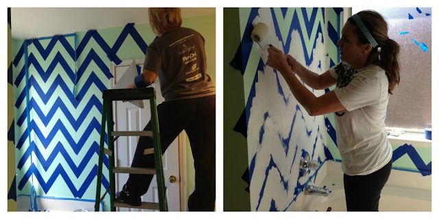 How to EASILY paint chevron!