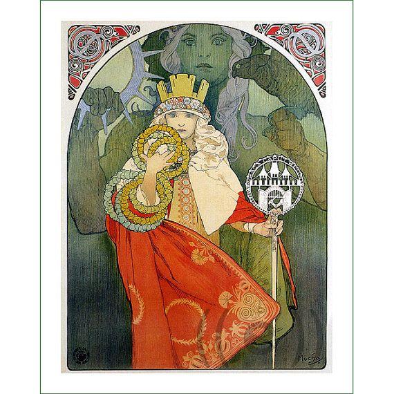 fabric panel - painting by Alphonse Mucha (20)
