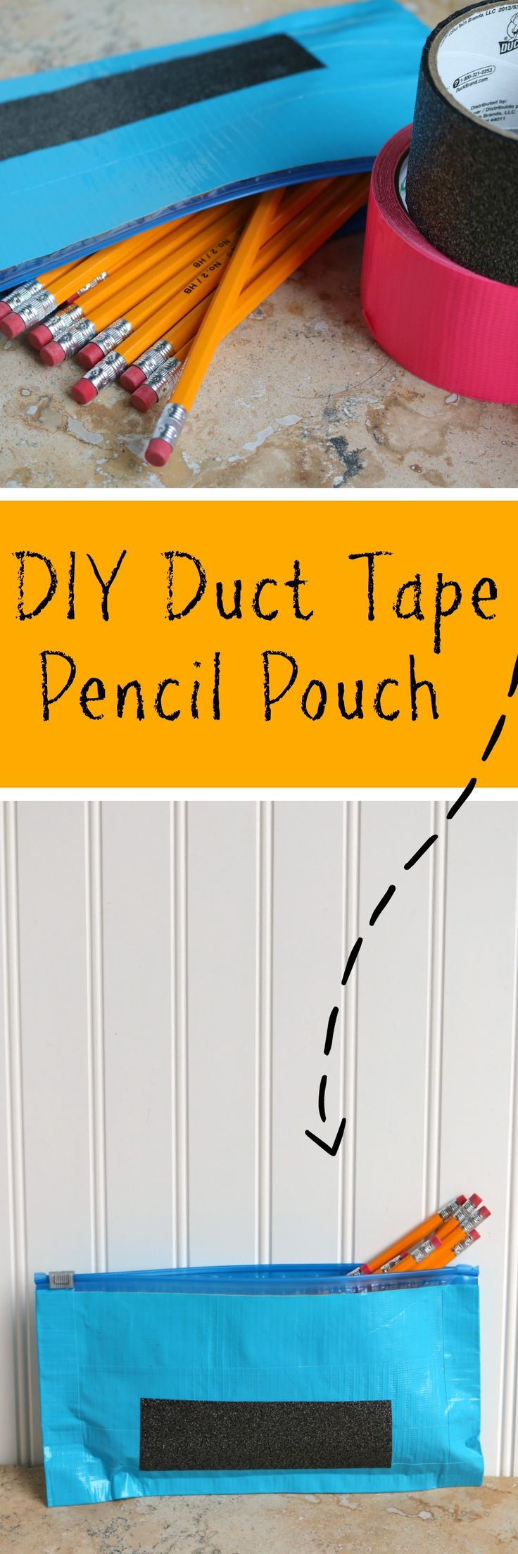 DIY Duct Tape Pencil Pouch for Back to School [AD] #DucktoSchool