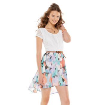 Lily Rose Lace Abstract Dress - Juniors - Easter Dress Idea #3