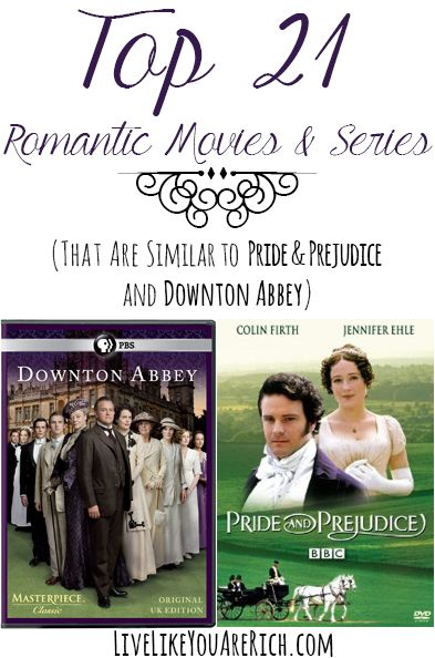 Great list of uplifting, excellent, and romantic films and series... They are all similar to Downton #LiveLikeYouAreRich