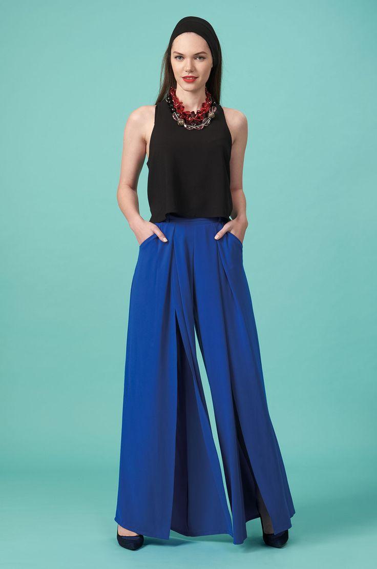 Forever Young : Παντελόνα με ανοίγματα μπροστά (FY103)