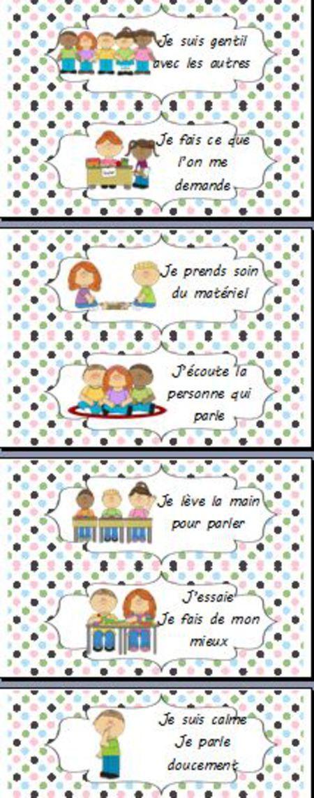 règles de vie de la classe