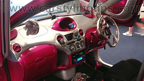 wow this is a cool pink yaris interior pimp my yaris pinterest toyota cars and wheels. Black Bedroom Furniture Sets. Home Design Ideas