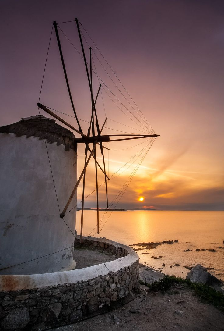 Sunset windmill, Mykonos, Greece | greece in 2019 ...