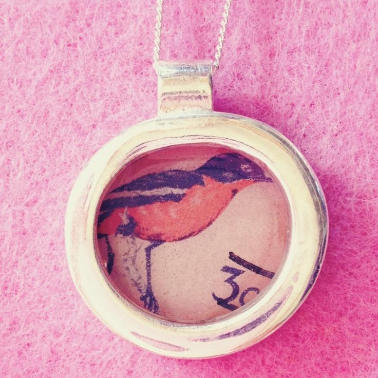 Bird stamp pendant. ~ Culinary Tactics Suggest s You Look @ Jewelery By Janine Binneman ~ We Luv It ~  Design on hellopretty.co.za