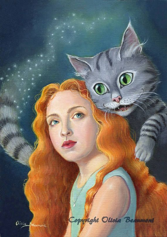 Alice and Cheshire Cat by Olivia Beaumont