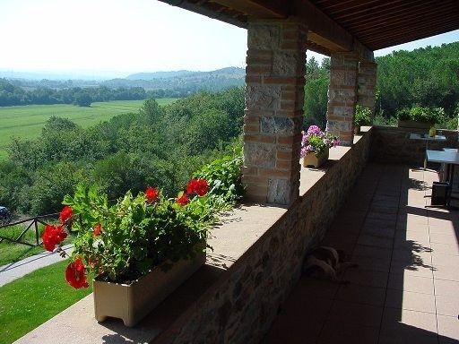 Veduta dal balcone #veduta #panorama #terrazza #toscana #relax