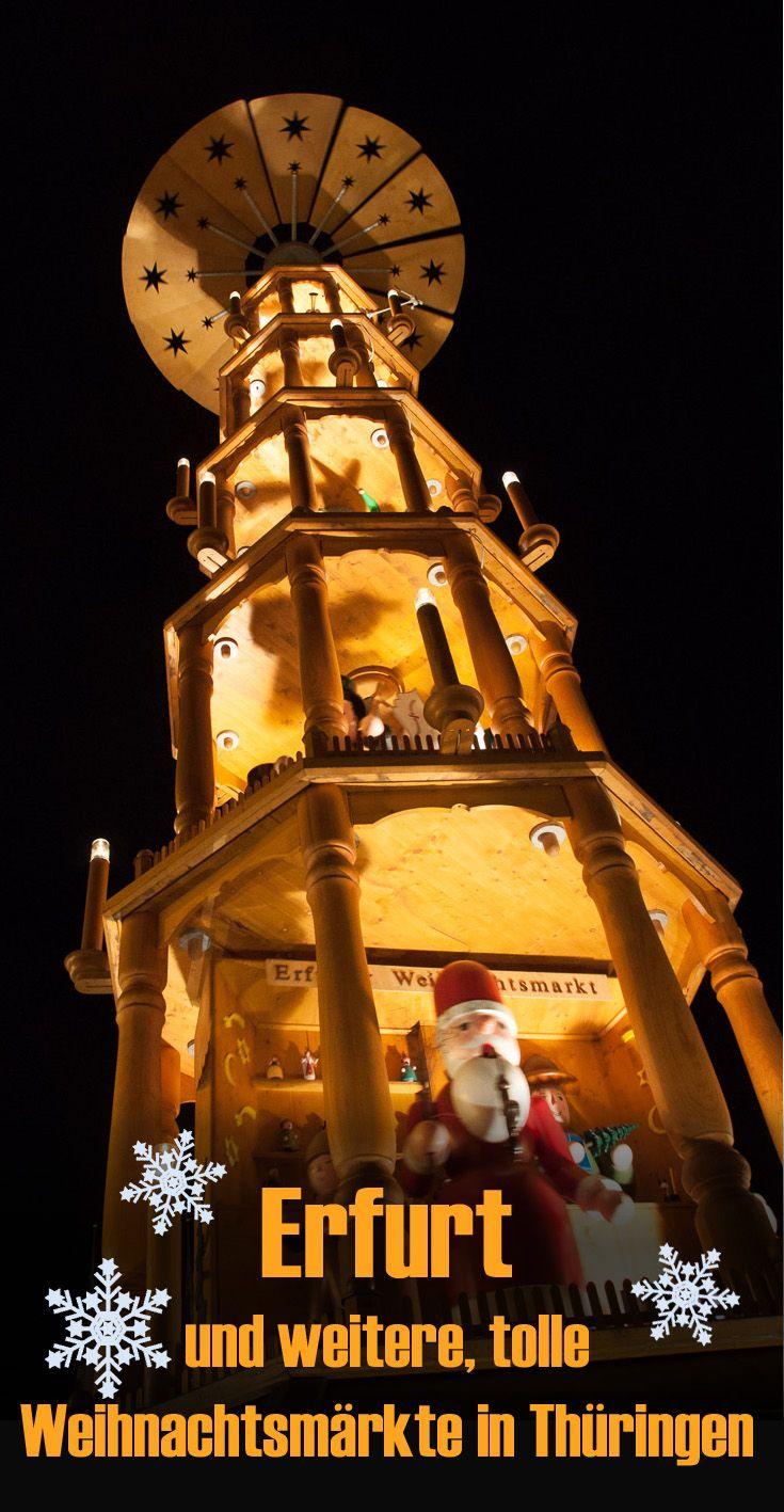 Der berühmte Weihnachtsmarkt in Erfurt und weitere Tipps für traumhafte Weihnachtsmärkte in Thüringen. Selbst ausprobiert. Meine Erfahrungen im Reiseblog. #deinthüringen