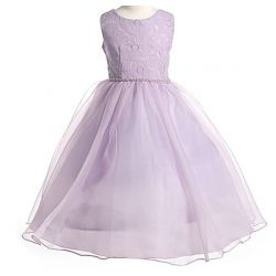 Lilah - Plus Size Flower Girl Dresses in Lilac