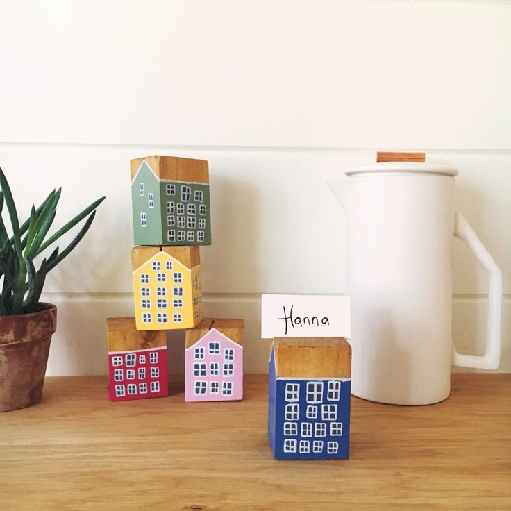 GIVEAWAY + DIY Danish townhouse place card holders from Scandinavian Gatherings | This Little street : This Little street