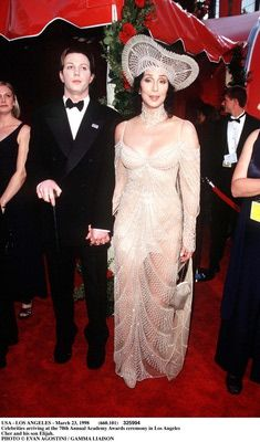 Cher & Son at Oscars 1998  Evan Agostini/Getty Images