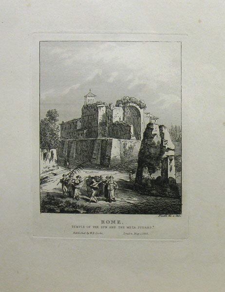 Rome. Temple of the Sun and the Meta Sudans. by Bartolomeo Pinelli