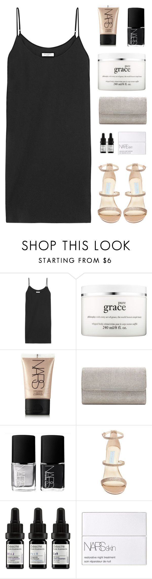 """""""Mini Dress"""" by amazing-abby ❤ liked on Polyvore featuring Equipment, philosophy, NARS Cosmetics, M&Co, Betsey Johnson and Odacité"""