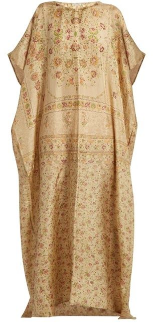 MES DEMOISELLES Pasado floral-print silk kaftan