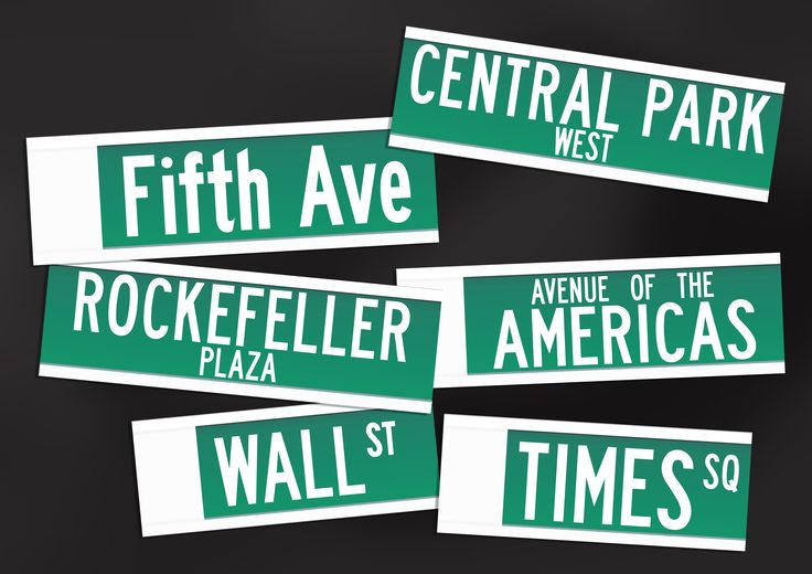 Table names for a New York themed reception party - by Doves & Peacocks