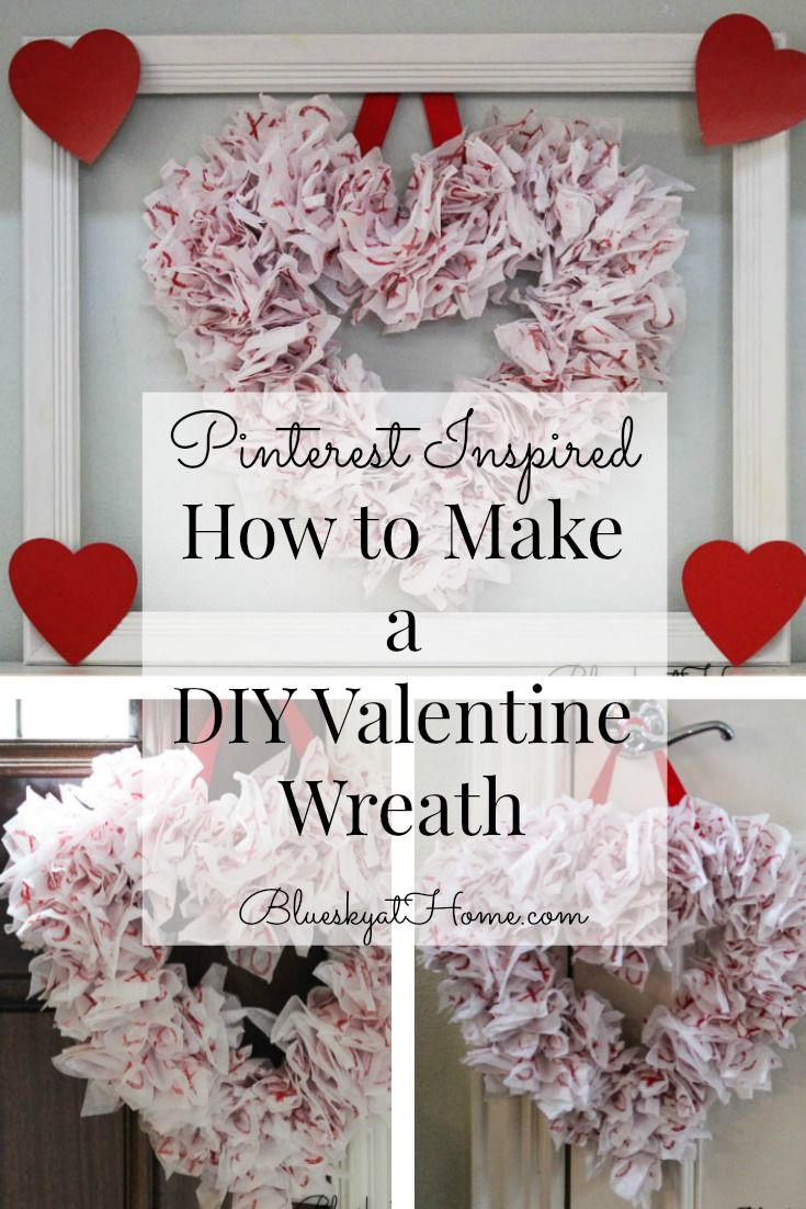Pinterest Inspired Diy Valentine Wreath Valentine Wreath Valentines Diy Valentine Wreath Diy