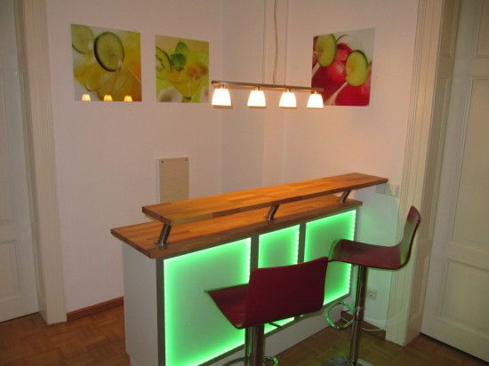 Another awesome bar hack! Cheers! It's an Illuminated Bar - IKEA Hackers
